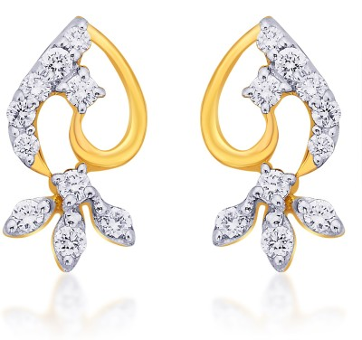 Karatcraft Tristar Yellow Gold 18kt Stud Earring at flipkart