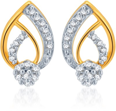 Karatcraft Sephora Yellow Gold 18kt Stud Earring at flipkart