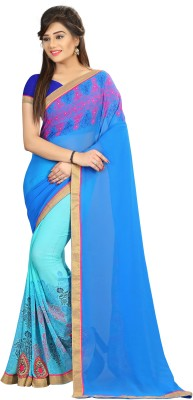 Shaily Retails Embroidered Fashion Georgette Saree(Multicolor)