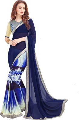 Shaily Retails Printed Fashion Poly Georgette Saree(Multicolor) at flipkart