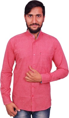 VINTAGE LOOK Men Solid Casual Red Shirt