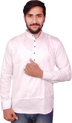 VINTAGE LOOK Men Solid Casual White Shirt