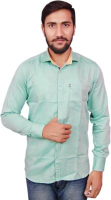 VINTAGE LOOK Men Solid Casual Green Shirt