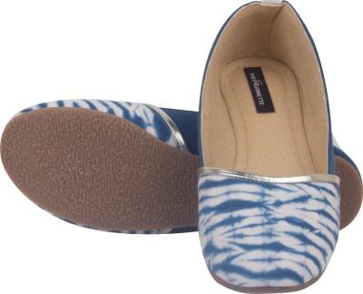 Hepburnette Blue Lagoon - Blue White Shibori Espadrille Bellies For Women(Blue)
