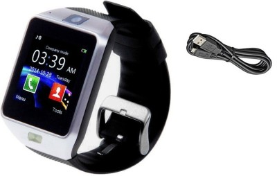 SYL PLUS Smartwatch with calling function compatible with Micromax Superfone Canvas A100 Silver Smartwatch Silver Strap Regular  available at Flipkart for Rs.2299