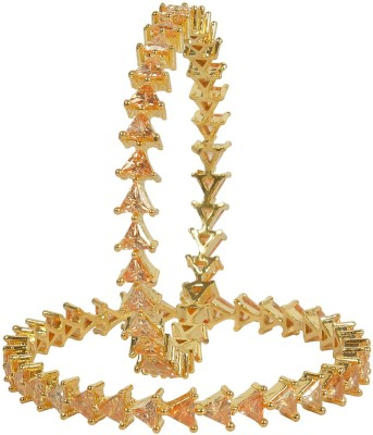 Muchmore Alloy Gold-plated Bangle(Pack of 2) at flipkart