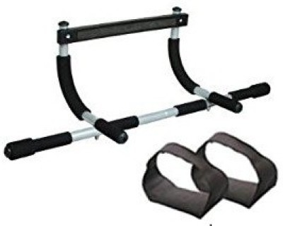 Kyachaiyea Multi Purpose Iron Bar with Straps for Gym   Home Fitness Pull up Bar Black Kyachaiyea Bars