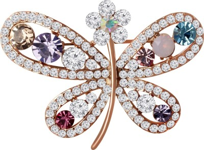 e3a6990d6 Spargz Party Wear AD Stone Butterfly Pins For Women Brooch ( Multicolor )
