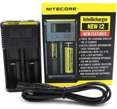 Nitecore New i2 Intellicharger (AA, AAA, Li-ion, IMR, Ni-MH/Ni-Cd, LiFe04, 18650) Rechargeable  Camera Battery Charger(Black) 1