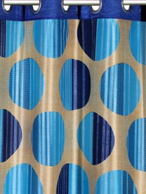 61 off on cortina 210 cm 7 ft polyester door curtain pack of 3 printed blue on flipkart. Black Bedroom Furniture Sets. Home Design Ideas