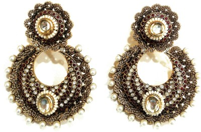 AMARA JEWELLERS DESIGNER COLLECTION Alloy Chandbali Earring at flipkart