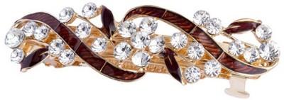 GELILIA Exquisite Crystal Studded Hair Clip(Brown) at flipkart