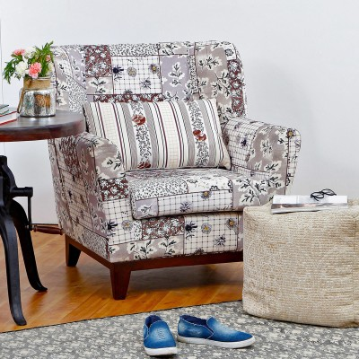Peachtree Fabric Living Room Chair(Finish Color - Brown)