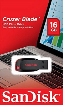 SanDisk PANDRIVE 16 GB Pen Drive(Black, Red)