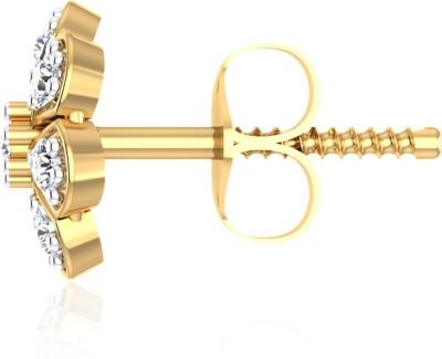 IskiUski Daisy Drops White Gold 14kt Swarovski Crystal Stud Earring