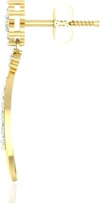 IskiUski Eternal Tryst White Gold 14kt Swarovski Crystal Stud Earring