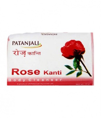 Patanjali Rose Soap(75 g, Pack of 4)