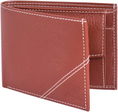 Mtuggar Men Tan Artificial Leather Wallet 5 Card Slots
