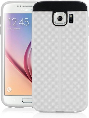 Bumper Back Cover for Samsung Galaxy S6 duos(White, Shock Proof, Rubber, Plastic)