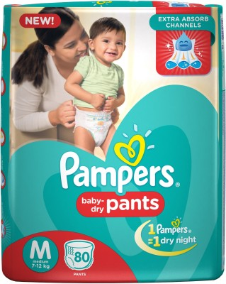 Pampers Pants Baby Diapers, M 80 Pieces