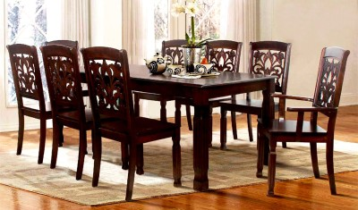 FurnCulture Sapporo Solid Wood 8 Seater Dining Set(Finish Color - Brown)