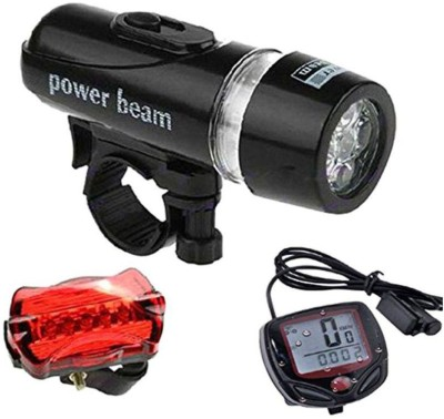 FurMito Bicycle Set of Speedometer LED Front Rear Light Combo Black, Silver, Red FurMito Lights