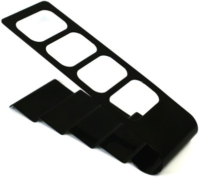 Ibs Stand 4 Compartments Plastic Remote Holder(Black)