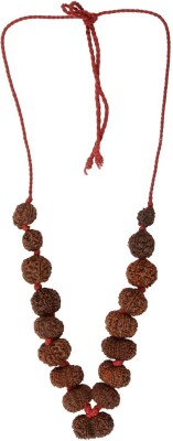 AJ Siddha Rudraksha Mala (1-14 Mukhi, Ganesh and Gauri Shankar) Silk Dori Necklace at flipkart