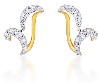Karatcraft Artisa Yellow Gold 18kt Stud Earring at flipkart