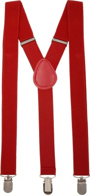 Paranoid Y  Back Suspenders for Men Red