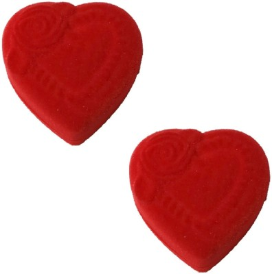 Addyz Pack of 2 Heart Shaped Romantic Ring Case Coin Jewelry Gift Proposal Valentine Ceremony Organizer Vanity Box(Red)  available at flipkart for Rs.167