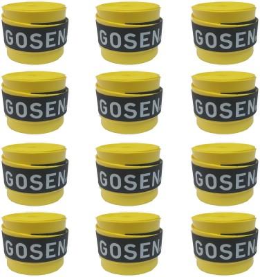 Gosen OG Super Tacky Yellow, Pack of 12 Gosen Tennis Racquet Grips