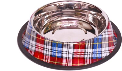 Royal pet Round Stainless Steel Pet Bowl(700 ml Multicolor)