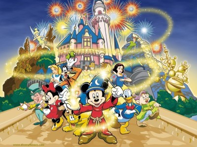 Disney Cartoon Magic Poster Paper Print(12 inch X 18 inch, Rolled)  available at flipkart for Rs.245