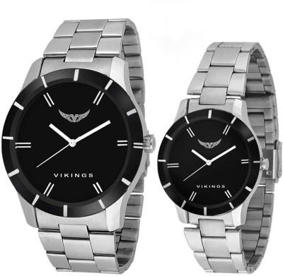 VIKINGS COMBO VK GR-102-LR-005-BLK-CHN Watch  - For Men & Women   Watches  (VIKINGS)