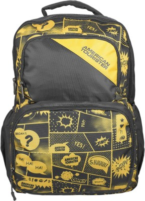 American Tourister Doodle 03 35 L Backpack(Grey, Yellow)