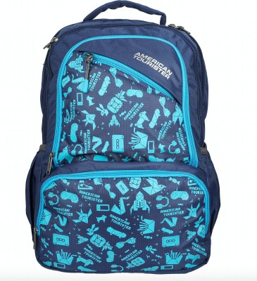American Tourister Doodle 01 35 L Backpack(Blue)