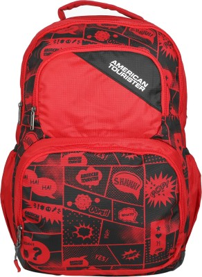 American Tourister Doodle 03 35 L Backpack(Red, Black)