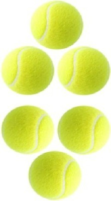 Solutions24x7 Cricket Tennis Ball Pack of 6, Yellow Solutions24x7 Cricket Balls