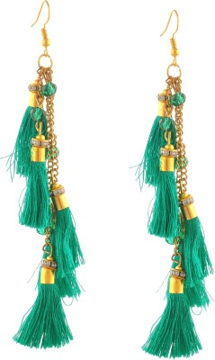 Zephyrr Fashion Lightweight Beaded Funky Long Hook Tassel Earrings for Girls Alloy Dangle Earring at flipkart
