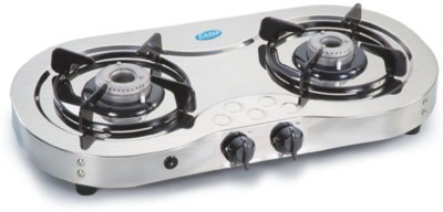 Glen Glen GL-1025-Ai Cooktop Stainless Steel Automatic Gas Stove(2 Burners) at flipkart