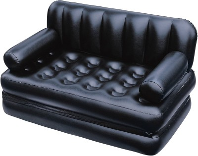 Bestway PP 3 Seater Inflatable Sofa(Color - Black)
