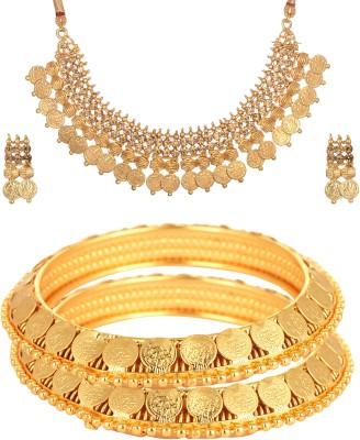 Reeti Fashions Copper Jewel Set(Gold) at flipkart