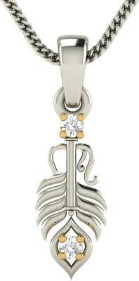 avsar Urvashi 18kt Diamond White Gold Pendant avsar Pendants   Lockets