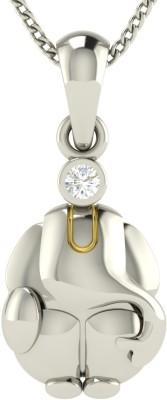avsar Rajastan 18kt Diamond White Gold Pendant avsar Pendants   Lockets