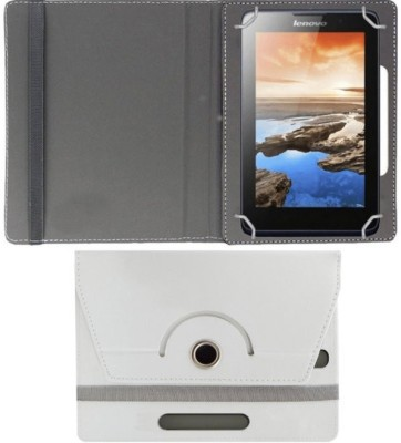 Hello Zone Flip Cover for Reliance 3g Tab 7(White, Leather)
