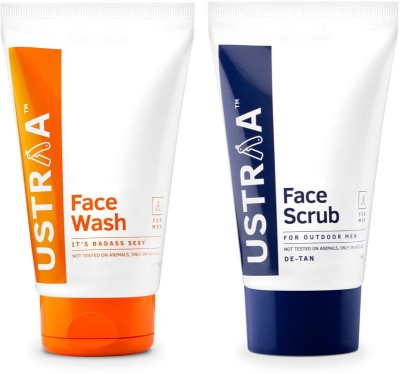 Ustraa By Happily Unmarried Face Wash its Bad Ass Sexy For Men (100 gm) Face Scrub for outdoor Men (100 gm)(Set of 2)