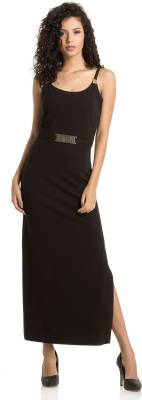 KAZO Women Maxi Black Dress