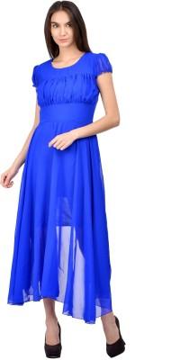 Raabta Fashion Women Maxi Blue Dress