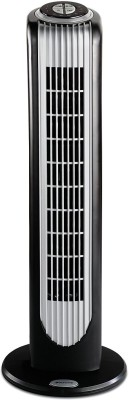 Oster Bionaire BT16RBS-IN 40-Watt Remote Control Tower Fan 3 Blade Tower Fan(Black)